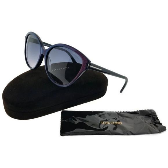 8cb3c066dd2e FT0342-6083F Women s Blue Melange Frame Sunglasses